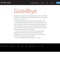Editorially: The best way to write, collaborate on, and talk about a text