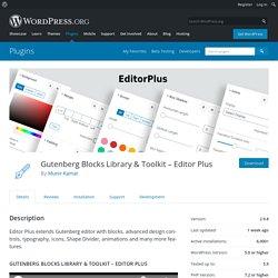 EditorPlus – WordPress plugin