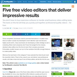 Five free video editors that deliver impressive results