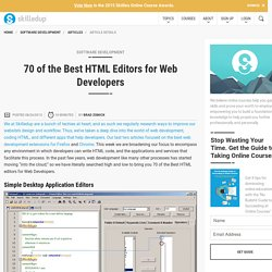 The Best 70 HTML Editors for Web Developers - Skilledup.com