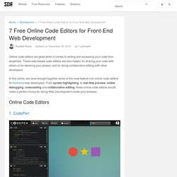 7 Free Online Code Editors for Front-End Web Development - Super Dev Resources