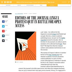 Lingua Editors Resign - OA Publishing