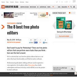The 8 best free photo editors