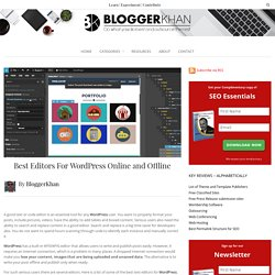 Best Editors For WordPress Online and Offline