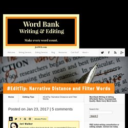 #EditTip: Narrative Distance and Filter Words - JeriWB Word Bank