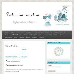 EDL PICOT – Lala aime sa classe
