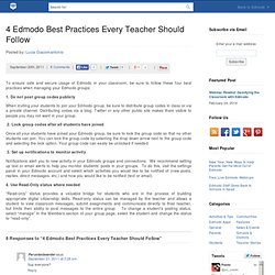 4 Edmodo Best Practices Every Teacher Should Follow