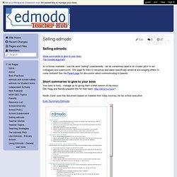 EdmodoTeacherHub - Selling edmodo