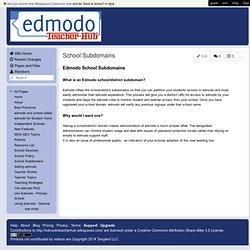 EdmodoTeacherHub - School Subdomains