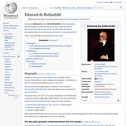 Edmond de Rothschild 1845-1934