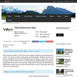 West Edmonton Mall , Alberta, Canada : Travel Guide
