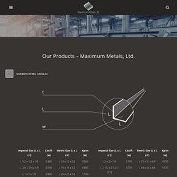 Buy Premium Quality Steel Plates from Maximum Metals Ltd