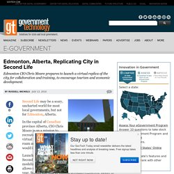 Edmonton, Alberta, Replicating City in Second Life