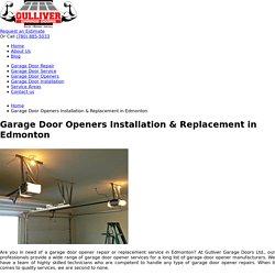 Edmonton Garage Door Opener Repair & Installation Service