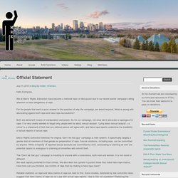 Men's Rights Edmonton » Official Statement