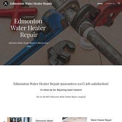 edmonton water heater repair