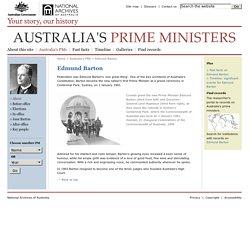 Edmund Barton - Australia's PMs - Australia's Prime Ministers