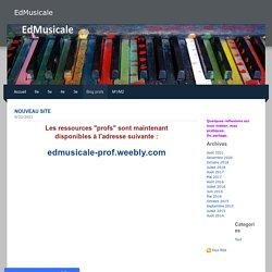 EdMusicale - Blog profs