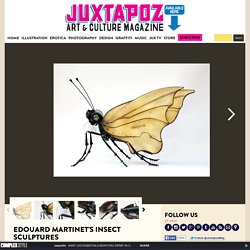 Edouard Martinet's Insect Sculptures