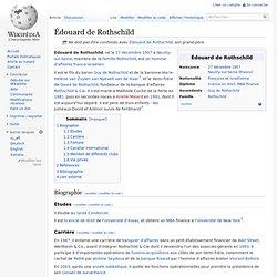 Ex-époux Édouard de Rothschild
