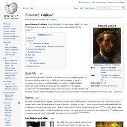 Édouard Vuillard : membre des Nabis