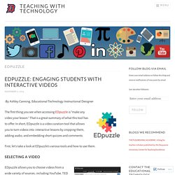EDpuzzle – Teaching with Technology