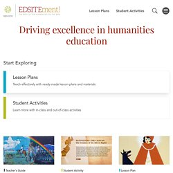 EDSITEment - The Best of the Humanities on the Web