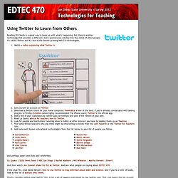 EDTEC 470 - Using Twitter to Learn from Others