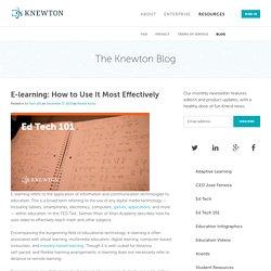 Edtech 101: E-learning