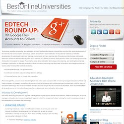 EdTech Round-Up: 99 Google Plus Accounts to Follow