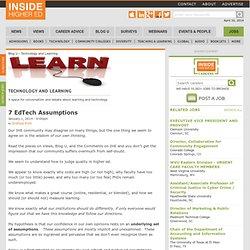 7 EdTech Assumptions