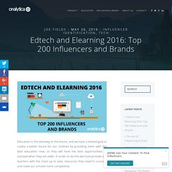 Edtech and Elearning 2016: Top 200 Influencers and Brands