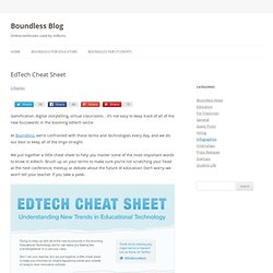 EdTech Cheat Sheet Infographic - Boundless