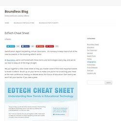 EdTech Cheat Sheet Infographic - Boundless