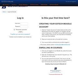 EDTECH Moodle: Log in to the site