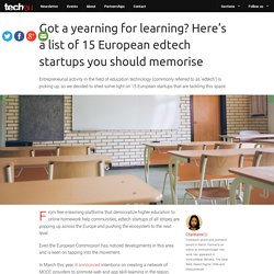 Here's a list of 15 EU edtech startups you should memorise
