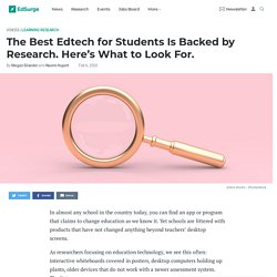 The Best Edtech for Students Is Backed by Research. Here's What to Look For.