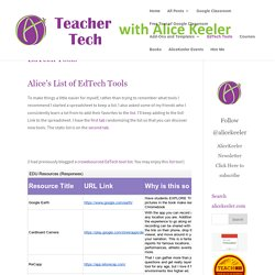 EdTech Tools - Teacher Tech