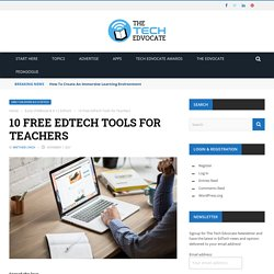 10 Free EdTech Tools for Teachers