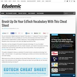 Brush Up On Your EdTech Vocabulary With This Cheat Sheet