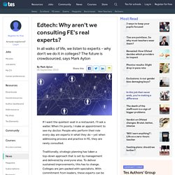 Edtech: why the future in FE is crowdsourced