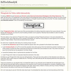 ThingLink for Video Adds Interactivity