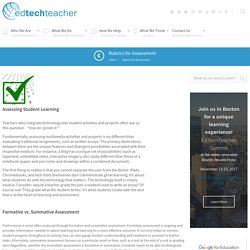 EdTechTeacher Rubrics for Assessment