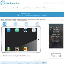 EdTechTeacher The Best Screencast Apps for Education - EdTechTeacher