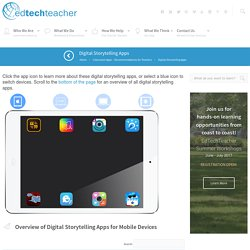 EdTechTeacher Digital Storytelling Apps