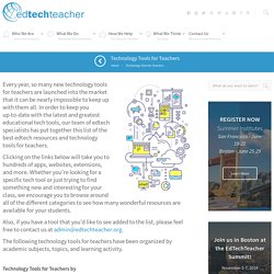 EdTechTeacher Technology Tools for Teachers
