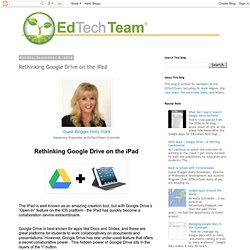 Rethinking Google Drive on the iPad