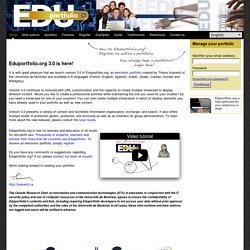 Edu-portfolio.org : Your electronic portfolio