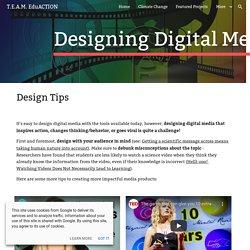 T.E.A.M. EduACTION - Designing Digital Media