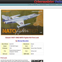 Eduard 1196 1/48 F-104G NATO Fighter Kit First Look